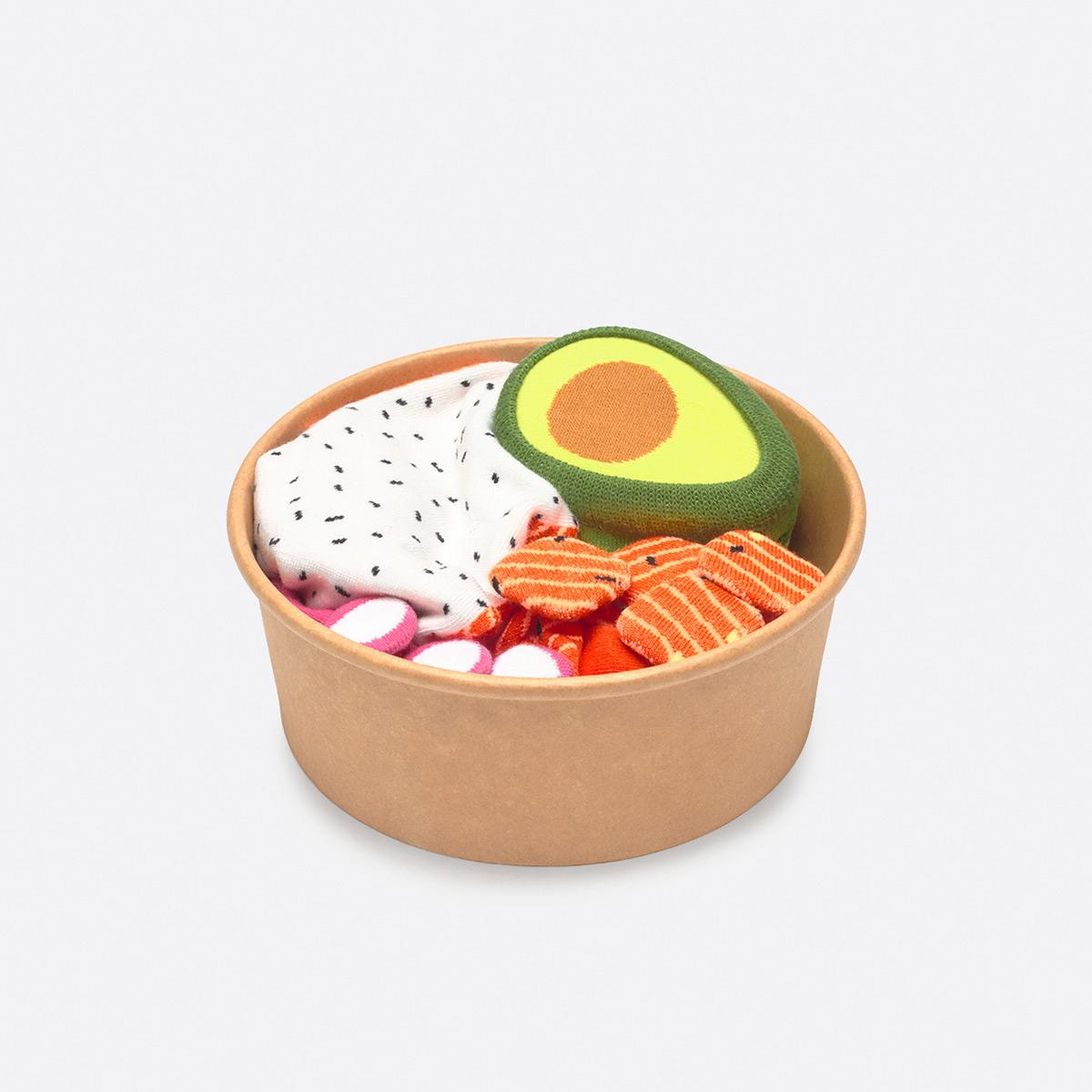 Poke bowl Sokken