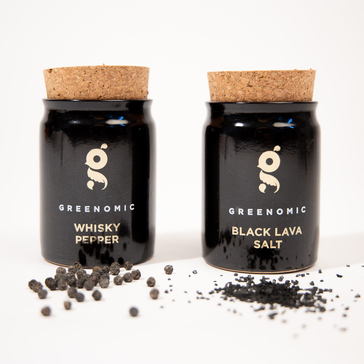 Black Lava zout of Whisky peper