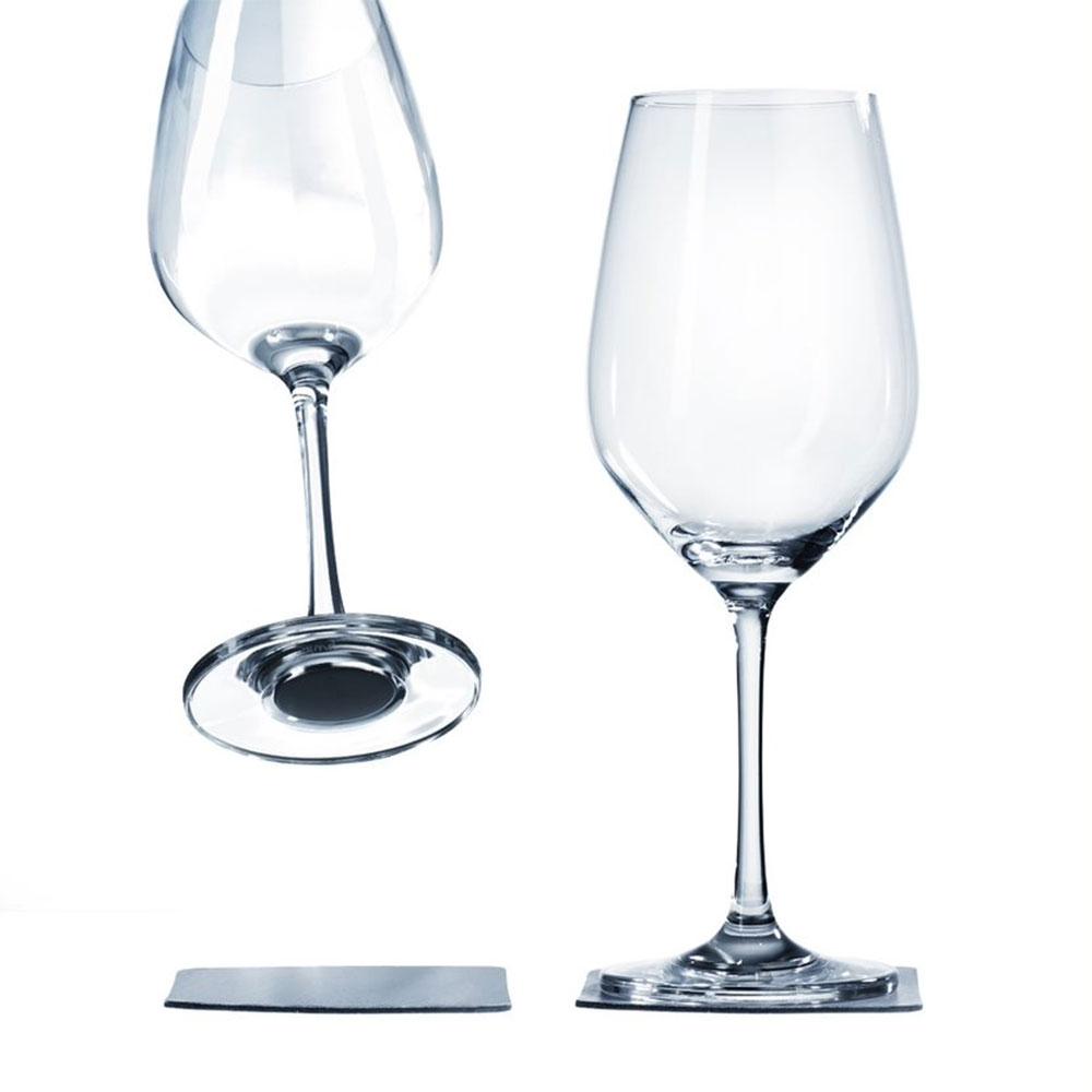 Magnetische wijnglazen met gel onderzetters