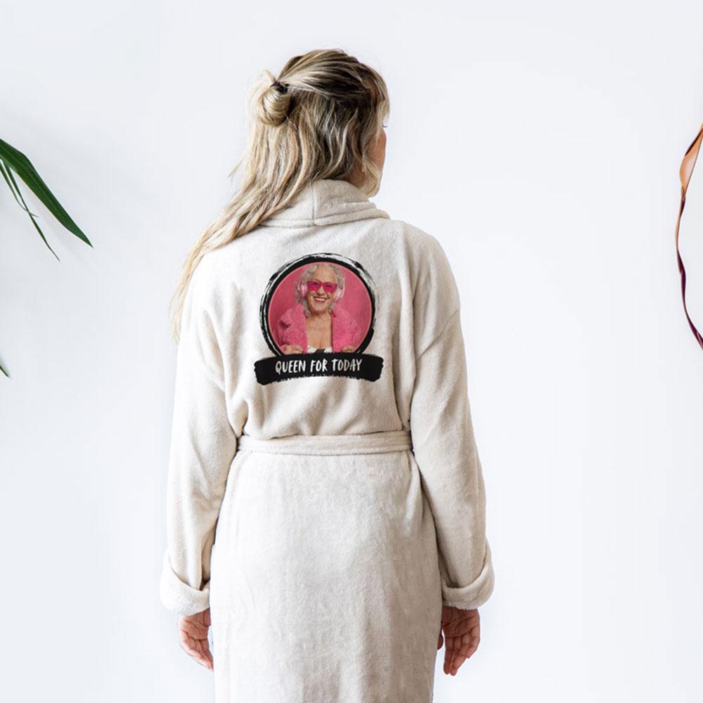Moederdag cadeau Personaliseerbare badjas met foto & tekst