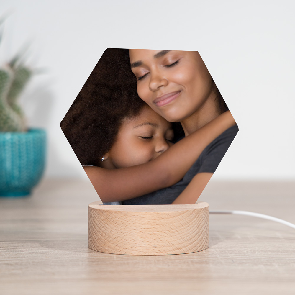 Cadeau voor moeder LED lamp met foto