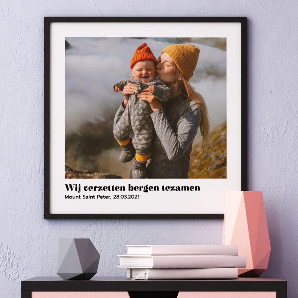 Moederdag Cadeau Poster met foto en tekst