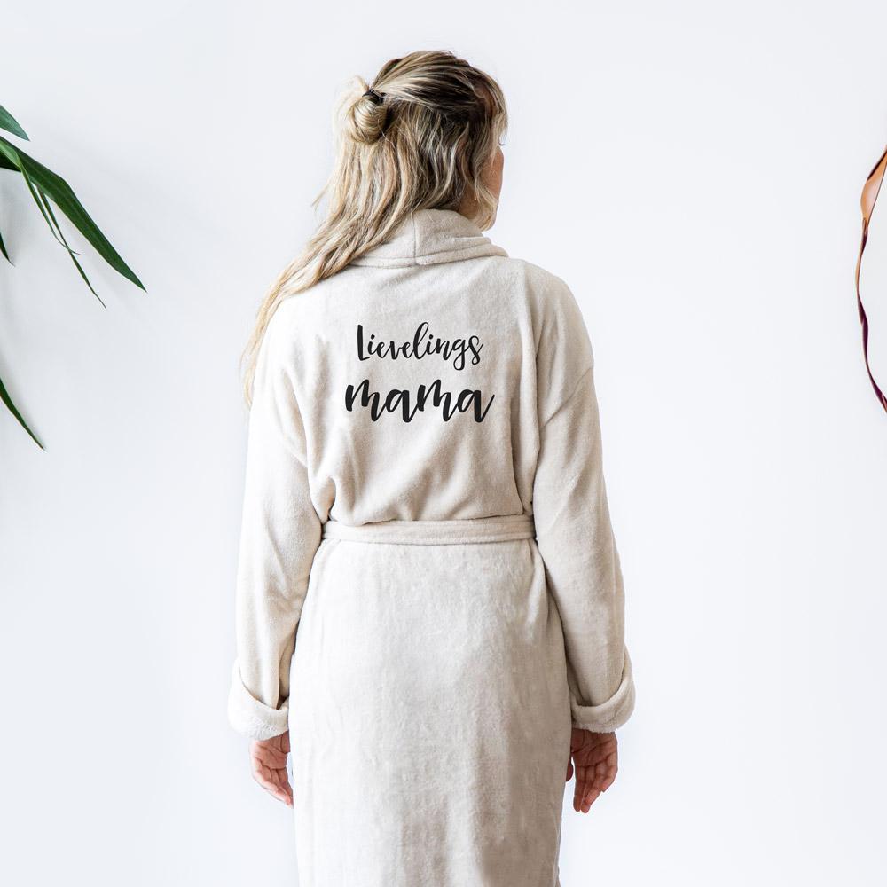 cadeau voor moeder Personaliseerbare badjas met tekst
