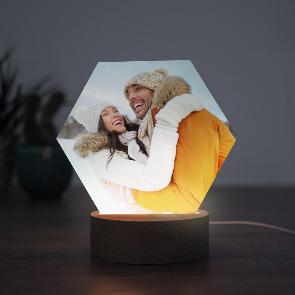 Kerstcadeau LED lamp met foto