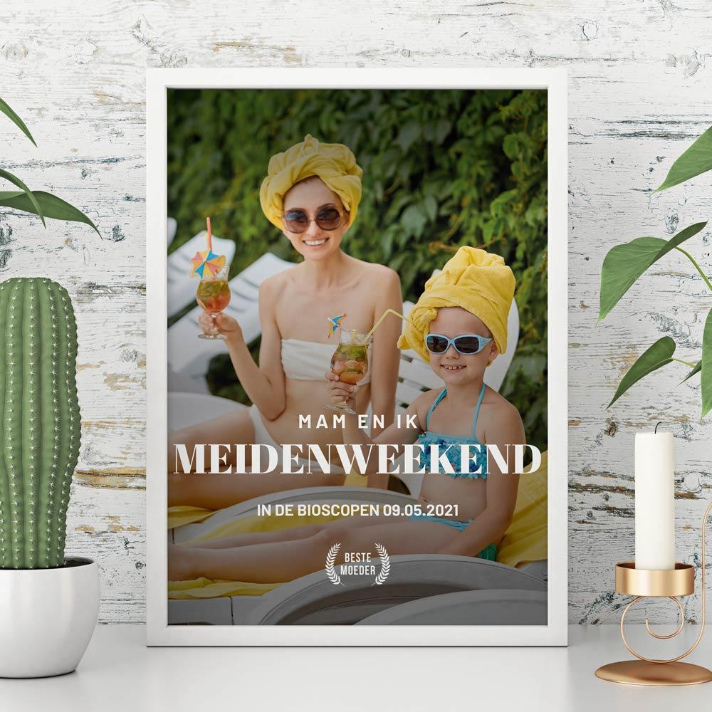 Cadeau voor moeder Personaliseerbare poster in filmposter stijl
