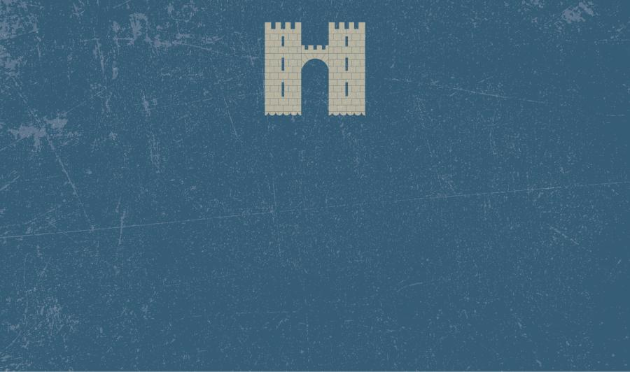 Schlüsselbret mit Wappen (BRWAXT) - Blau
