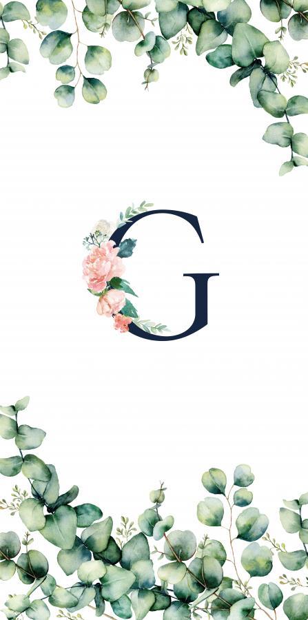 Handtuch mit Monogramm und Text (TOMOXT) - G