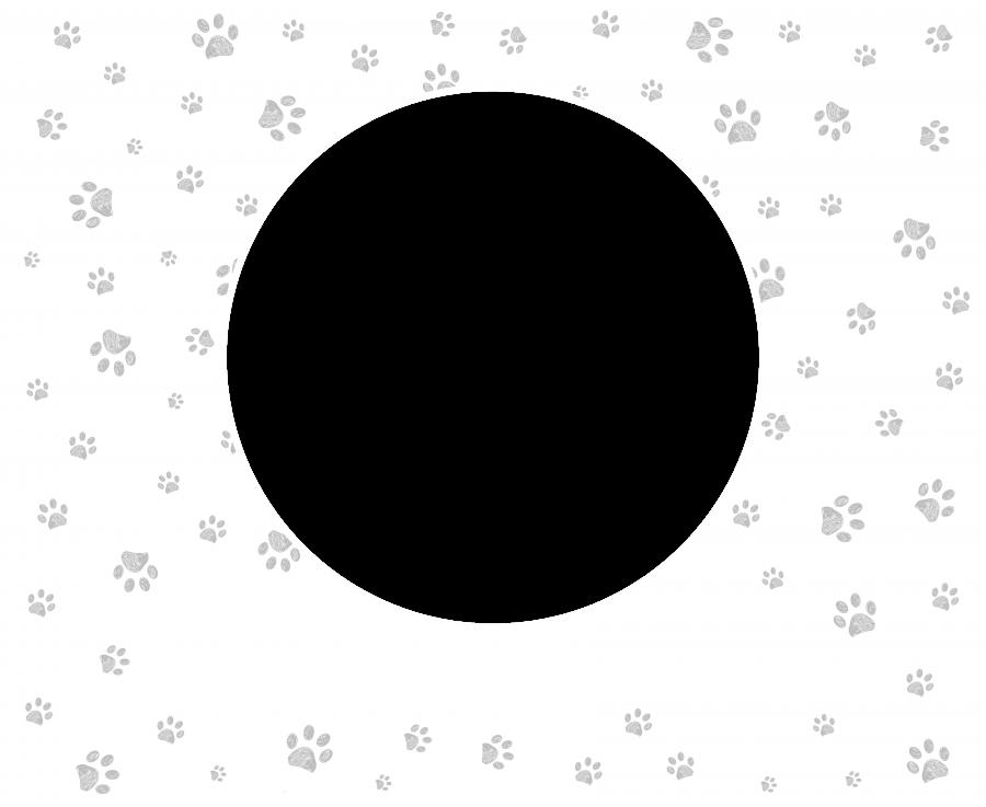 Tierbett mit Text - Grau
