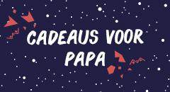 Kerstcadeau voor Papa