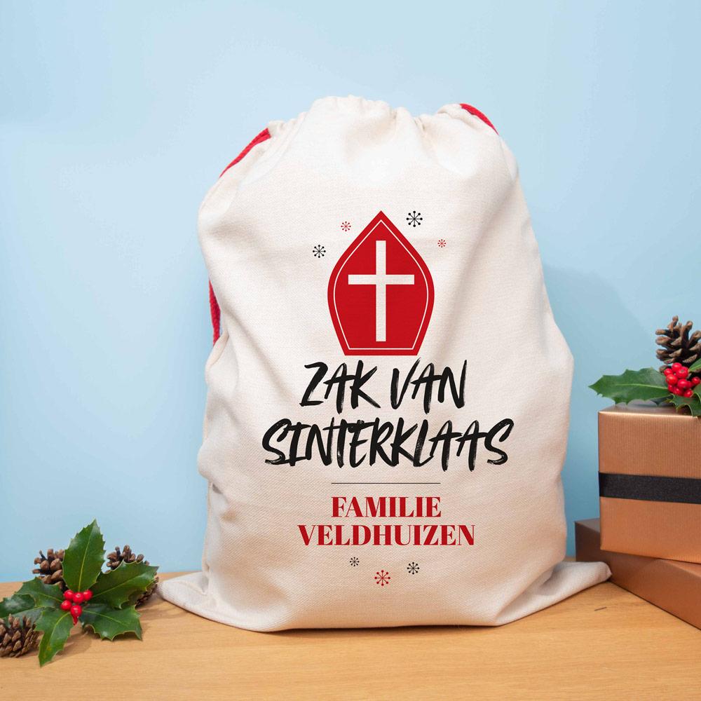 Sinterklaas cadeautjes - personaliseerbare zak van Sinterklaas