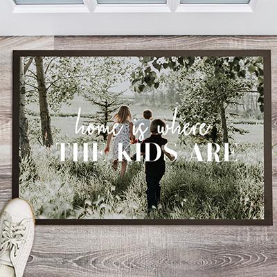 kerstcadeau voor ouders - personaliseerbare deurmat met foto