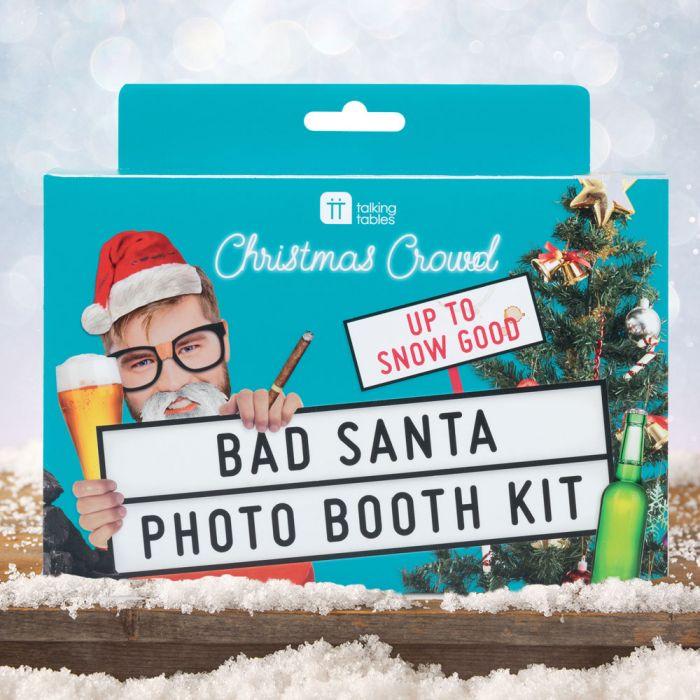 Bad Santa fotoset voor Kerstmis
