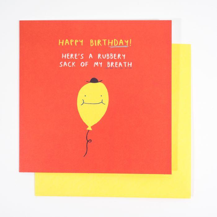 Balloon verjaardagskaart