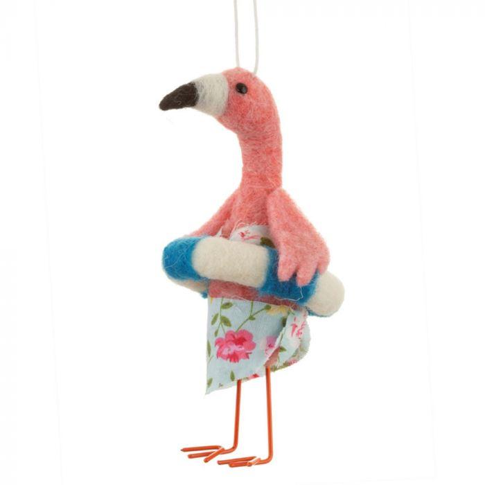 Flamingo Kerstboomversiering