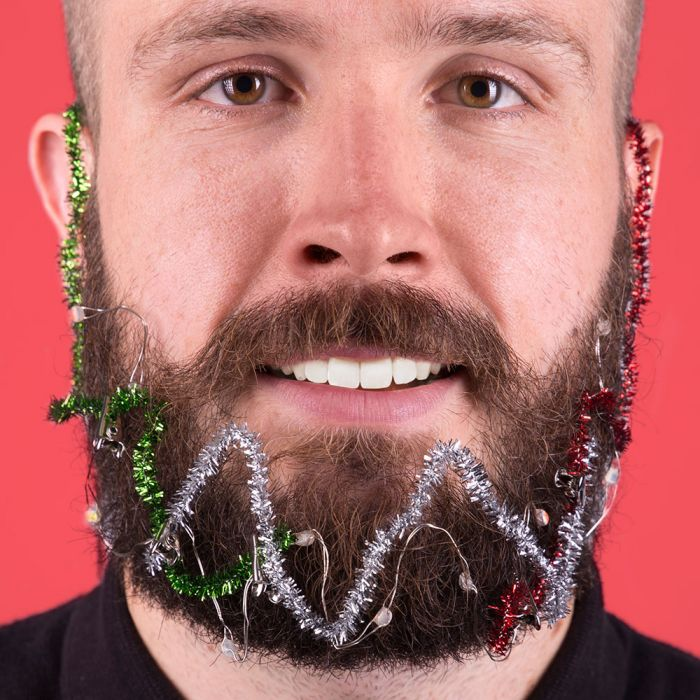 Kerstlichtjes voor in je baard