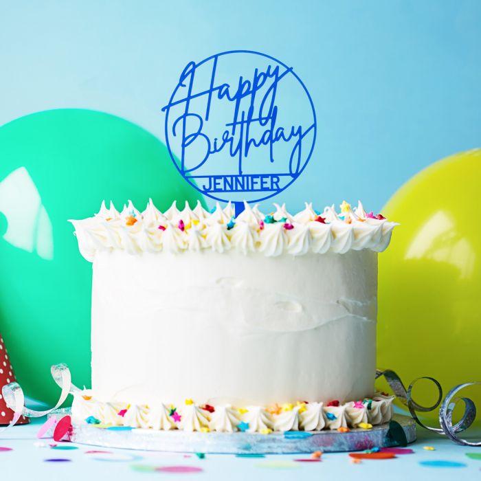Personaliseerbare taarttopper voor je verjaardag