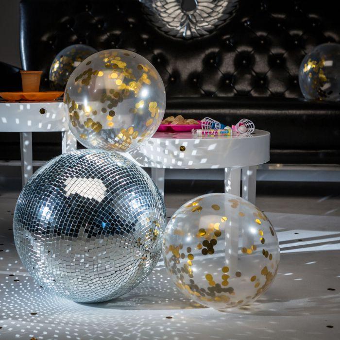 Ballonnen met gouden confetti