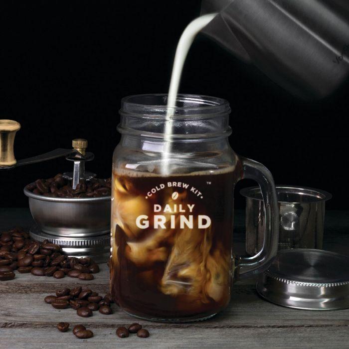 Daily grind koffiemolen glas met handvat