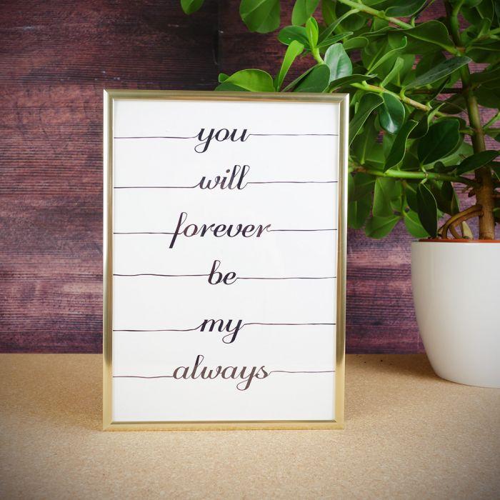 Forever always poster