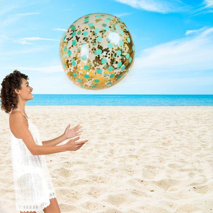 XXL glitterende strandbal