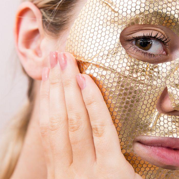 Gold gezichtsmasker
