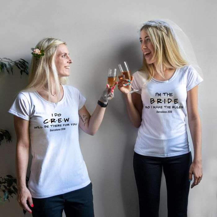Personaliseerbaar T-shirt voor de bruiloft