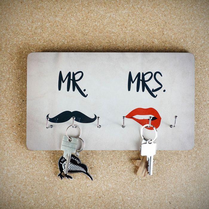 Sleutelbord Mr. & Mrs.