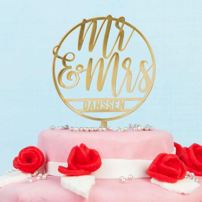 Personaliseerbare taarttopper voor bruiloft