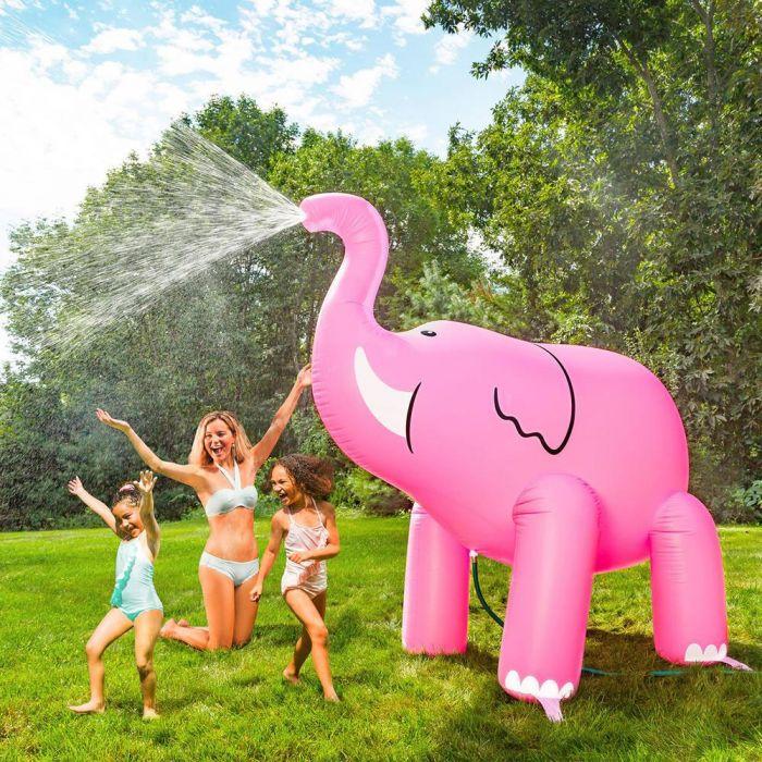Gigantische roze olifant sproeier