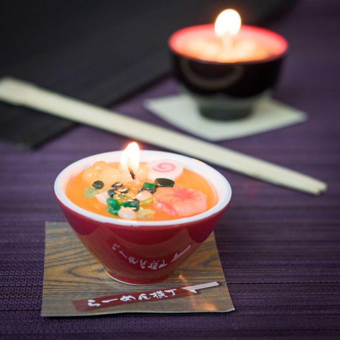 Miso soep en Ramen noodles kaarsen