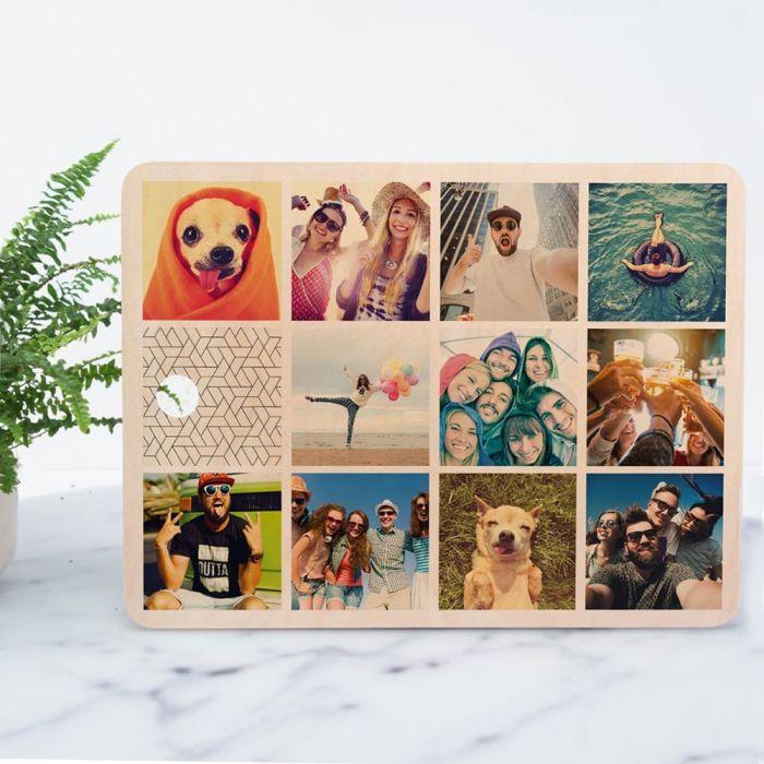 Personaliseerbare snijplank met 11 afbeeldingen