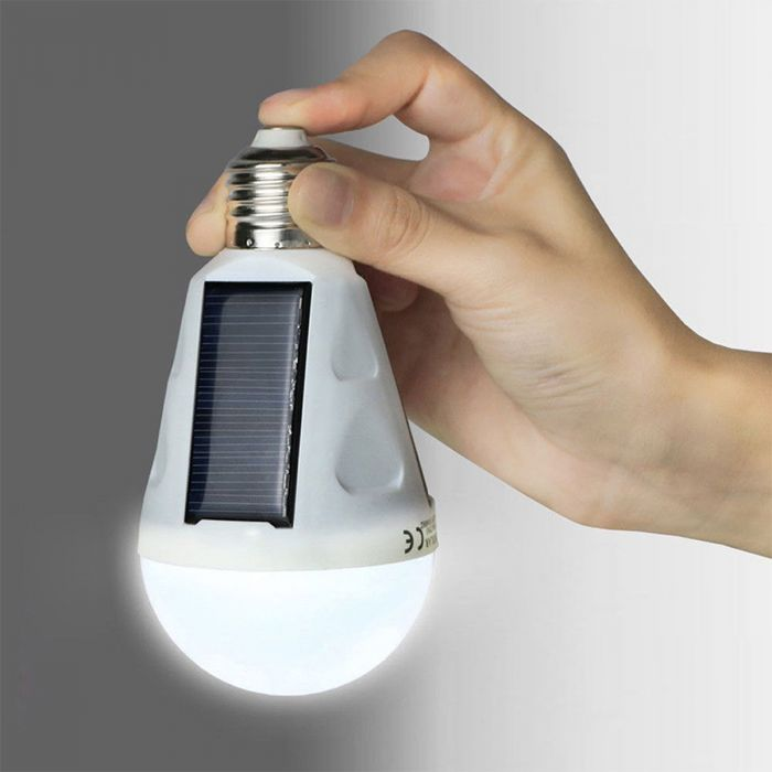 Solar lamp met LED