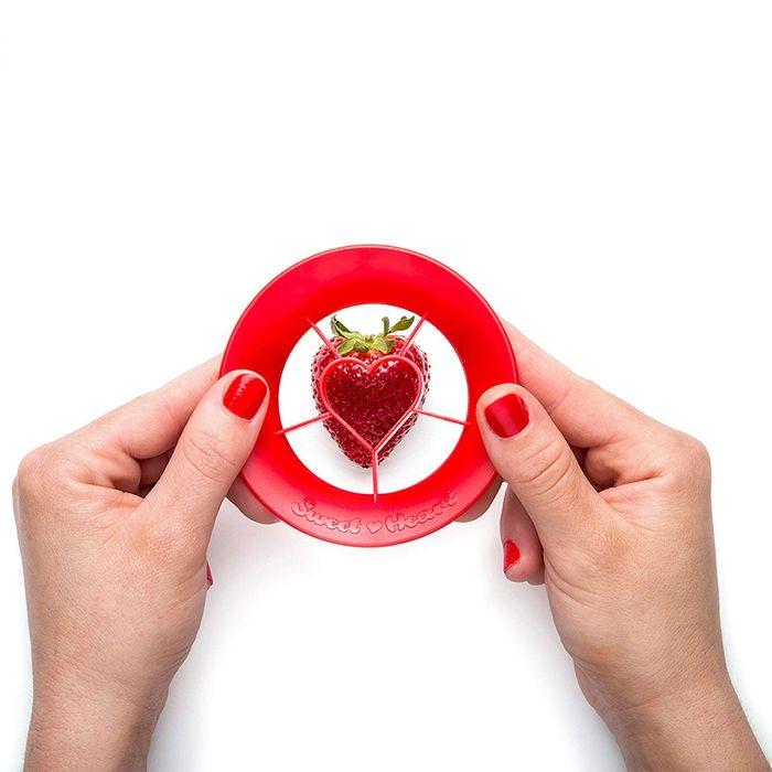 Sweet heart aardbei snijder