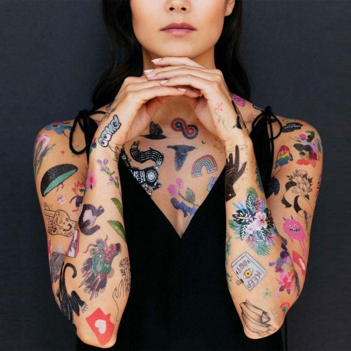 Temporary tattoos in verschillende designs