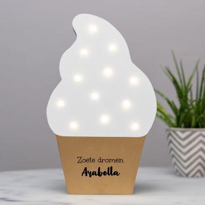 Led lamp ijsje met tekst