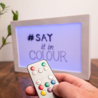Dubbelzijdige lightbox met kleurverandering