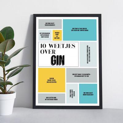 Personaliseerbare poster 10 weetjes over...