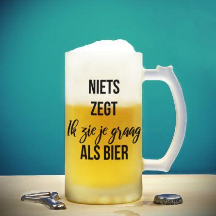 Bierpul met 4 tekstregels