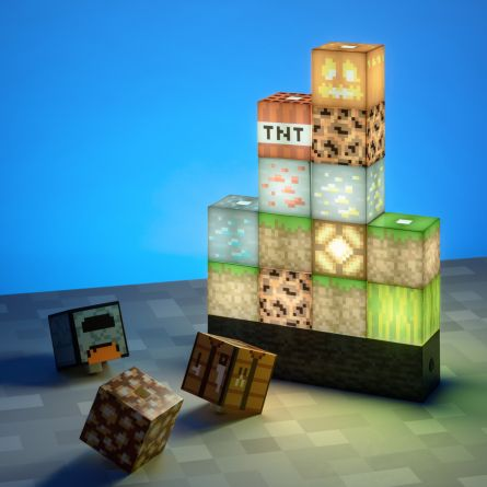 Minecraft Block lamp met 16 elementen
