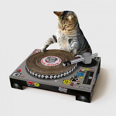 Krab platenspeler voor katten