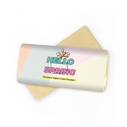Pasen-Chocolade met 2 tekstregels