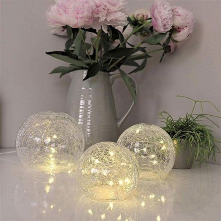 LED lichtset van gebroken glas