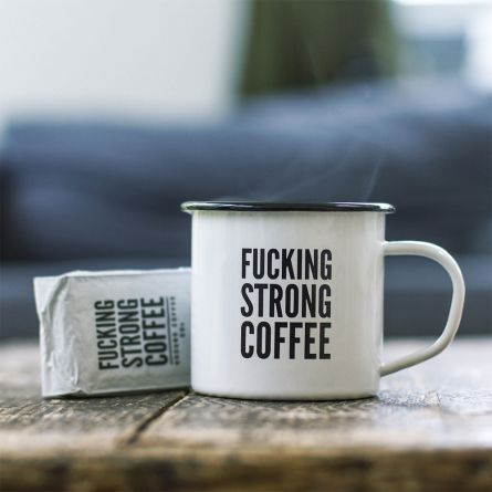 F*cking Strong Coffee set met mok