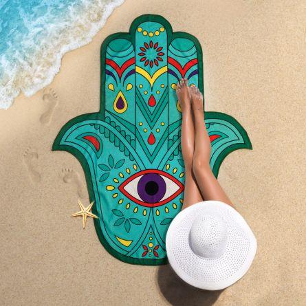Hand van Fatima strandlaken