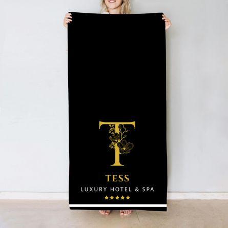 Hotel design monogram handdoek