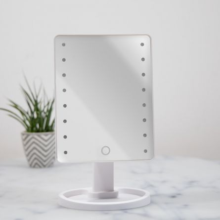 Witte Hollywood spiegel met LEDs