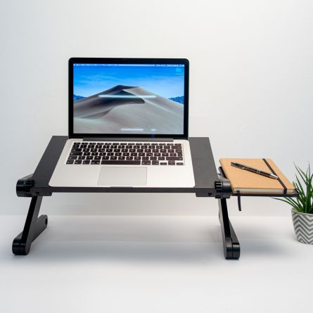 Universele laptopstandaard in zwart