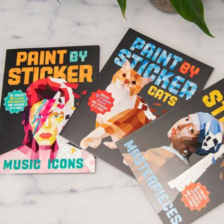 Paint By Sticker kleurboeken met stickers
