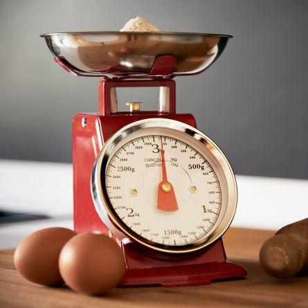 Retro metalen keukenweegschaal