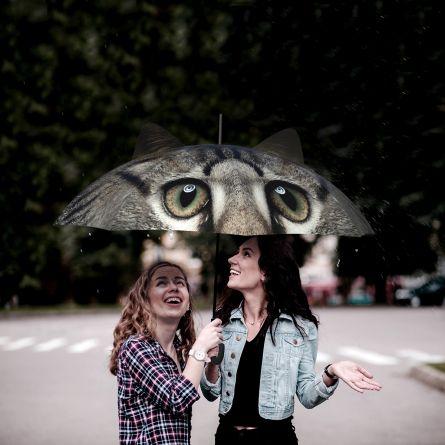 Paraplu met oren hond en kat